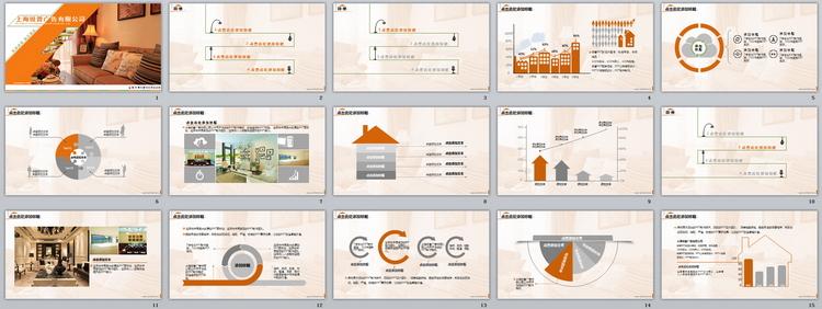 创意设计房屋装修动态ppt模板