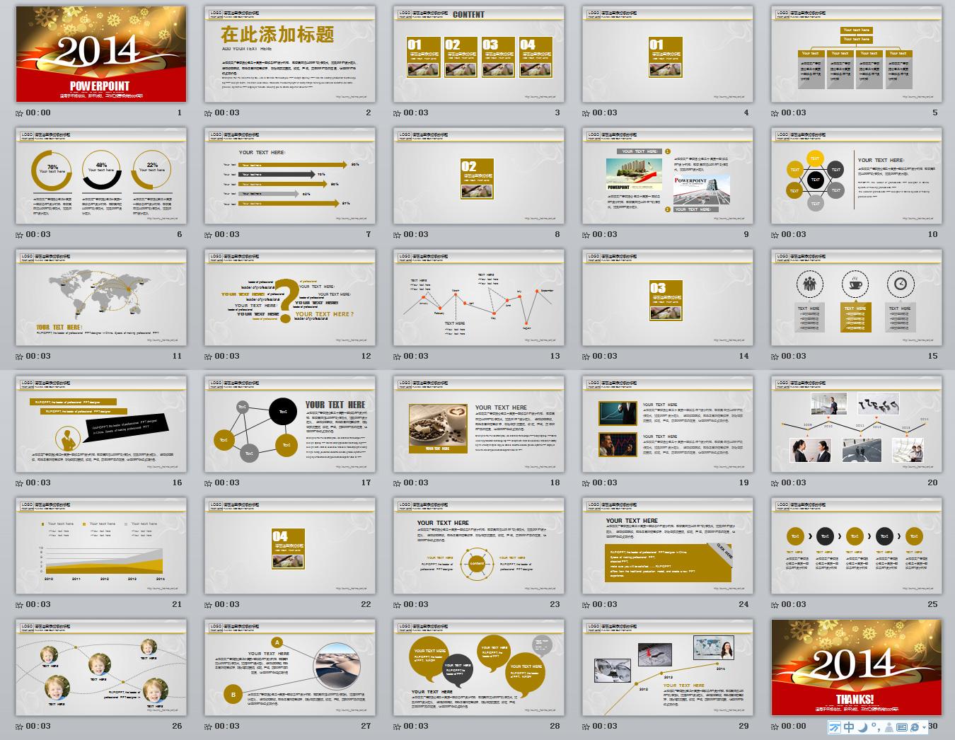 2014年度总结,计划ppt模板
