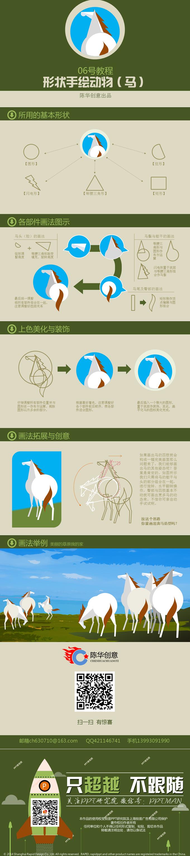 陈华创意06号教程形状手绘动物(马)