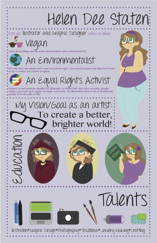 彩色手绘-简历图片