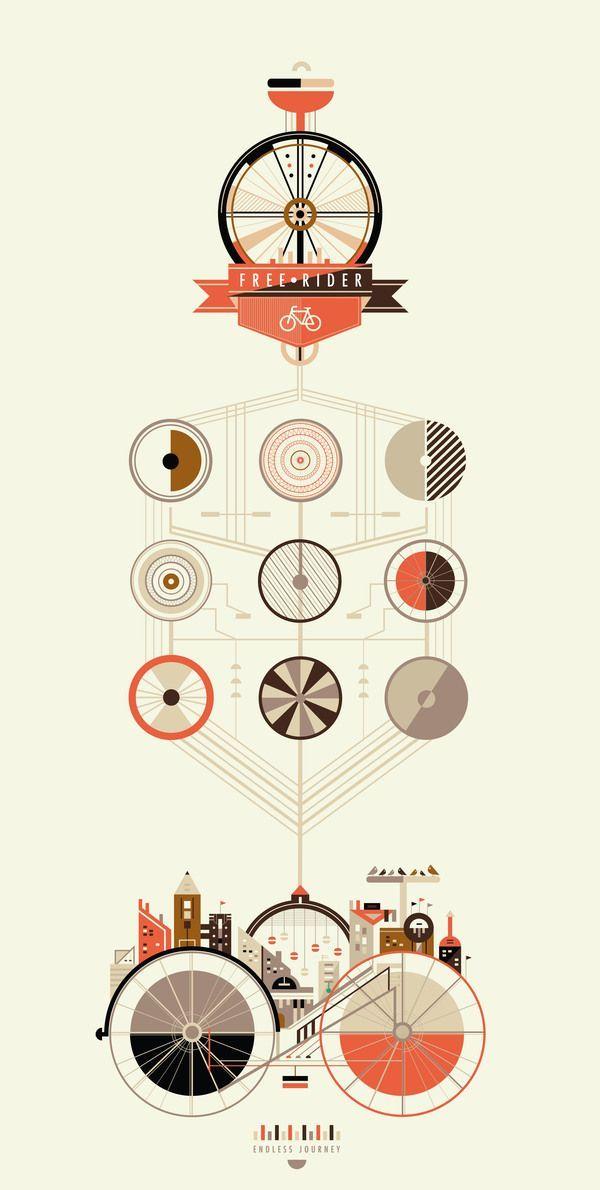 【演界信息图表】创意图表-手绘马车
