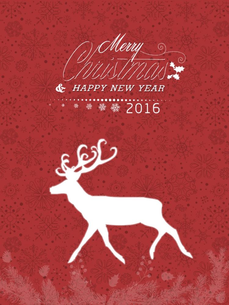 圣诞新年中国风红色海报图片素材ppt设计模板壁纸