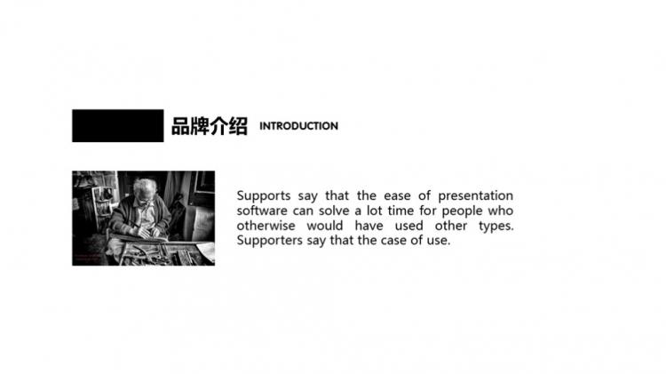 【小屁ppt】web风高端大气黑白灰ppt模板图片